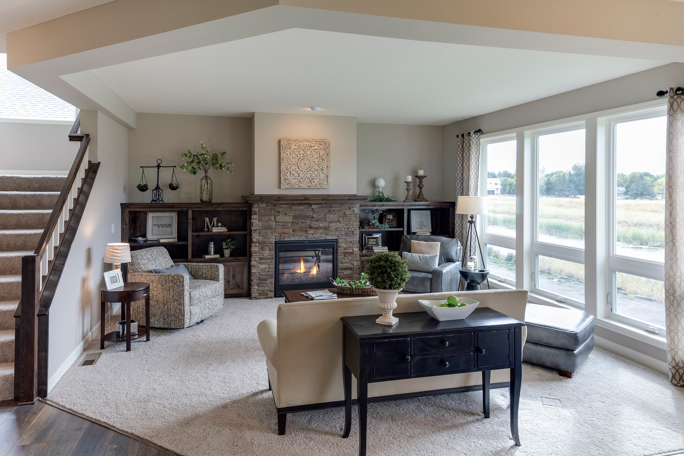 Lower Level Family Room By Charles-Merritt-Homes